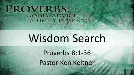 Proverbs: Wisdom Search